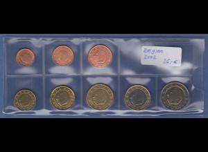 Belgien EURO-Kursmünzensatz Jahrgang 2002 bankfrisch / unzirkuliert