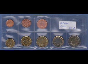 Belgien EURO-Kursmünzensatz Jahrgang 2006 bankfrisch / unzirkuliert