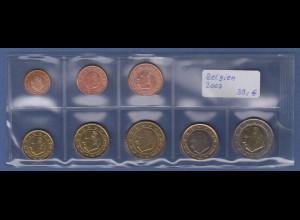 Belgien EURO-Kursmünzensatz Jahrgang 2007 bankfrisch / unzirkuliert