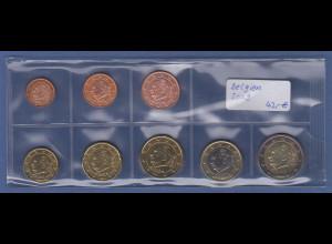 Belgien EURO-Kursmünzensatz Jahrgang 2009 bankfrisch / unzirkuliert