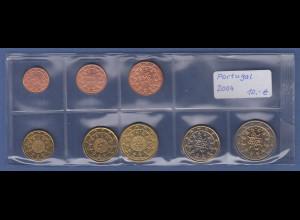Portugal EURO-Kursmünzensatz Jahrgang 2004 bankfrisch / unzirkuliert