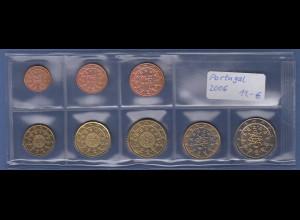 Portugal EURO-Kursmünzensatz Jahrgang 2006 bankfrisch / unzirkuliert
