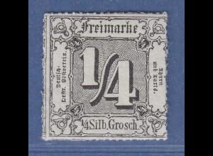 Thurn & Taxis 4.Ausgabe 1/4 Sgr Mi.-Nr. 35 postfrisch **