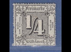 Thurn & Taxis 4.Ausgabe 1/4 Sgr. Mi.-Nr. 35 postfrisch **