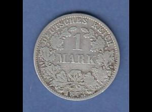 Deutsches Kaiserreich Silber-Kursmünze 1 Mark A 1873