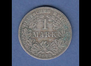 Deutsches Kaiserreich Silber-Kursmünze zu 1 Mark A 1873