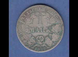 Deutsches Kaiserreich Silber-Kursmünze 1 Mark Jahr 1878 A