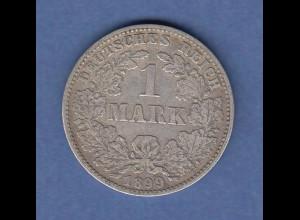 Deutsches Kaiserreich Silber-Kursmünze 1 Mark J 1899