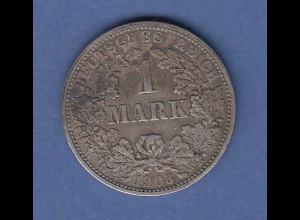 Deutsches Kaiserreich Silber-Kursmünze 1 Mark F 1903