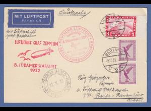 Dt. Reich Zeppelin LZ 127 8. Südamerikafahrt 1932 Berlin-Anschlussflug > Recife