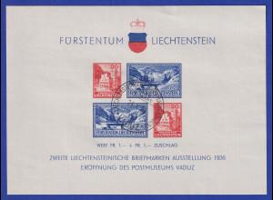 Liechtenstein 1936 Blockausgabe Postmuseums-Eröffnung Mi.-Nr. Block 2 gest.