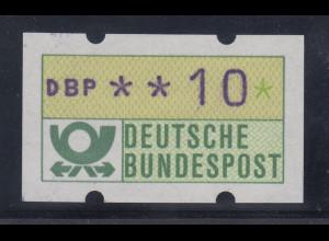 ATM Blaue Münchner Abart mit blauviolettem Werteindruck ,1982, Wert 10Pfg **