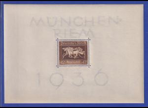 Deutsches Reich Blockausgabe Braunes Band 1936 Mi.-Nr. Block 4 **