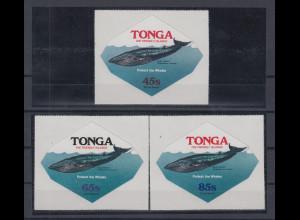 Tonga 1977 Wale Dienstmarken Mi.-Nr. 162-164 kpl. Satz 3 Werte **