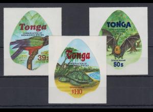 Tonga Tiere Dienstmarken Mi.-Nr. 186-188 kpl. Satz 3 Werte **