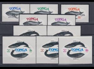 Tonga 1977 Wale Mi.-Nr. 629-638 kpl. Satz 10 Werte **