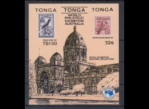 Tonga Blockausgabe Ausipex 84, Vögel Mi.-Nr. Block 5 **