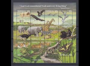 Tonga 1987 Blockausgabe Tiere Arche Noah Mi.-Nr. Block 9 **