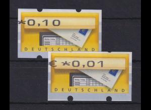 Deutschland ATM Briefkasten 2 Werte mit nach links verschobenem Eindruck
