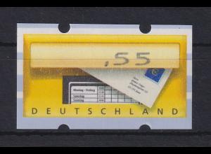 Deutschland ATM Briefkasten Teildruck, nur ,55