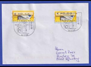 Deutschland ATM Briefkasten 2 Werte auf Brief, So.-O Oktoberfest München 2008