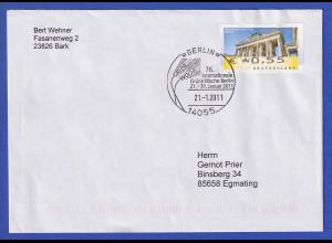 Deutschland ATM Berliner Tor Fehldruck € 0,55 auf Brief mit So-O Berlin 2011