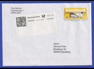 ATM Briefkasten, Fehldruck €*0,01 unten in MIF mit SFS auf Standardbrief
