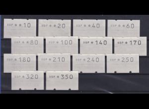 Berlin ATM Tastensatz TS2 14 Werte 10-350 Pfg postfrisch ** alles GUMMIDRUCKE