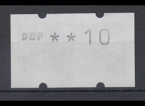 Deutschland ATM Sanssouci Druck N101 Gummidruck Wert DBP ** 10