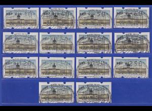 Berlin ATM kpl. Tastensatz TS1 14 Werte 10-300 Pfg mit ET-So-O und Zählnummer