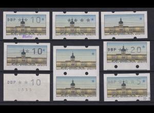 Berlin ATM kleines Lot 8 verschiedene Abarten und Besonderheiten. ANSEHEN