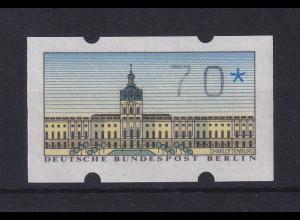 Berlin ATM Wert 70 Pfg, Teildruck ohne DBP, Sterne kaum sichtbar.