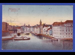 AK Königsberg i. Pr. Hafenpartie, gelaufen 1923