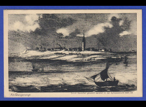 AK Alt-Wangerooge durch Sturmflut gänzl. zerstört Sylvester 1854, gelaufen 1929