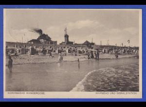 AK Nordseebad Wangerooge Warmbad und Signalstation, gelaufen 1929