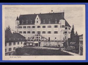 AK Gruß aus Taxis, verschiedene Ansichten, gelaufen 1928