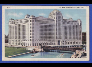 AK Chicago The Merchandise Mart, gelaufen 1936