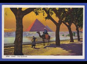 AK Kairo Pyramiden, gelaufen 1926