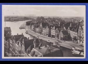 AK Emden Partie am Delft, gelaufen 1930