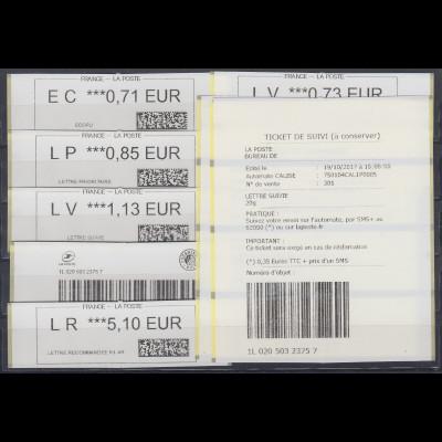 Frankreich ATM 2017 Typ Calise Satz 7 Werte **