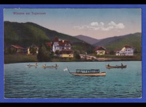 AK Wiessee am Tegernsee Boote auf dem Wasser, gelaufen