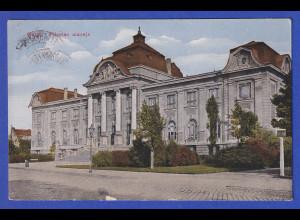 AK Riga Lettisches Nationalmuseum, gelaufen 1924