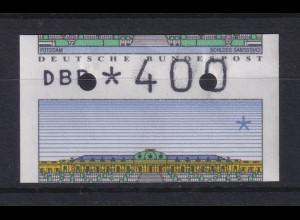 ATM Sanssouci, DBP dünn Mi.-Nr. 2.1.1 total verschnitten, hoher Wert 400 **