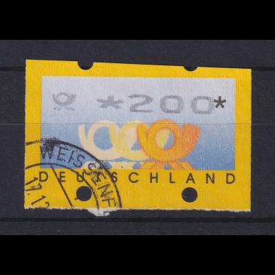ATM Deutschland Posthörner Mi.-Nr. 3.2 Wert 200, übergroß geschnitten.