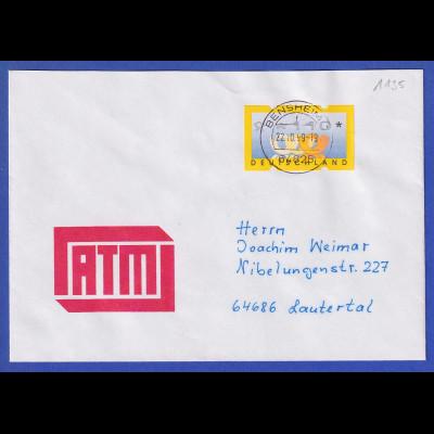 ATM Deutschland Posthörner Mi.-Nr. 3.2 Wert 110 auf FDC mit Tages-O BENSHEIM