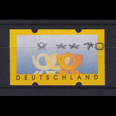 ATM Deutschland Posthörner Mi.-Nr. 3.2 Wert 10 nach rechts verschoben