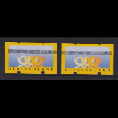 ATM Deutschland Posthörner Mi.-Nr. 3.2 Wert 110 dick durchbalkt, Paar 2 ATM