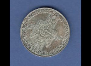 5DM Silber-Gedenkmünze 1952, Germanisches Museum Nürnberg, mit Patina