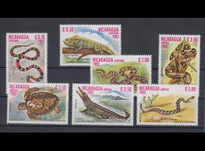 Nicaragua 1982 Reptilien Mi.-Nr. 2335-2341 kpl. Satz 7 Werte **