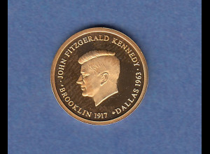 Goldmedaille USA John F. Kennedy. 1,60 g 585er Gold